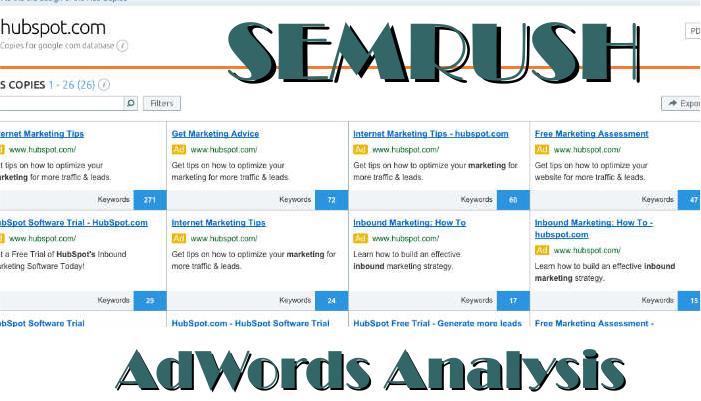 semrush adwords analysis