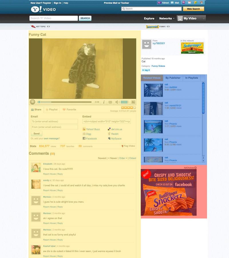 Основной контент страницы с видео