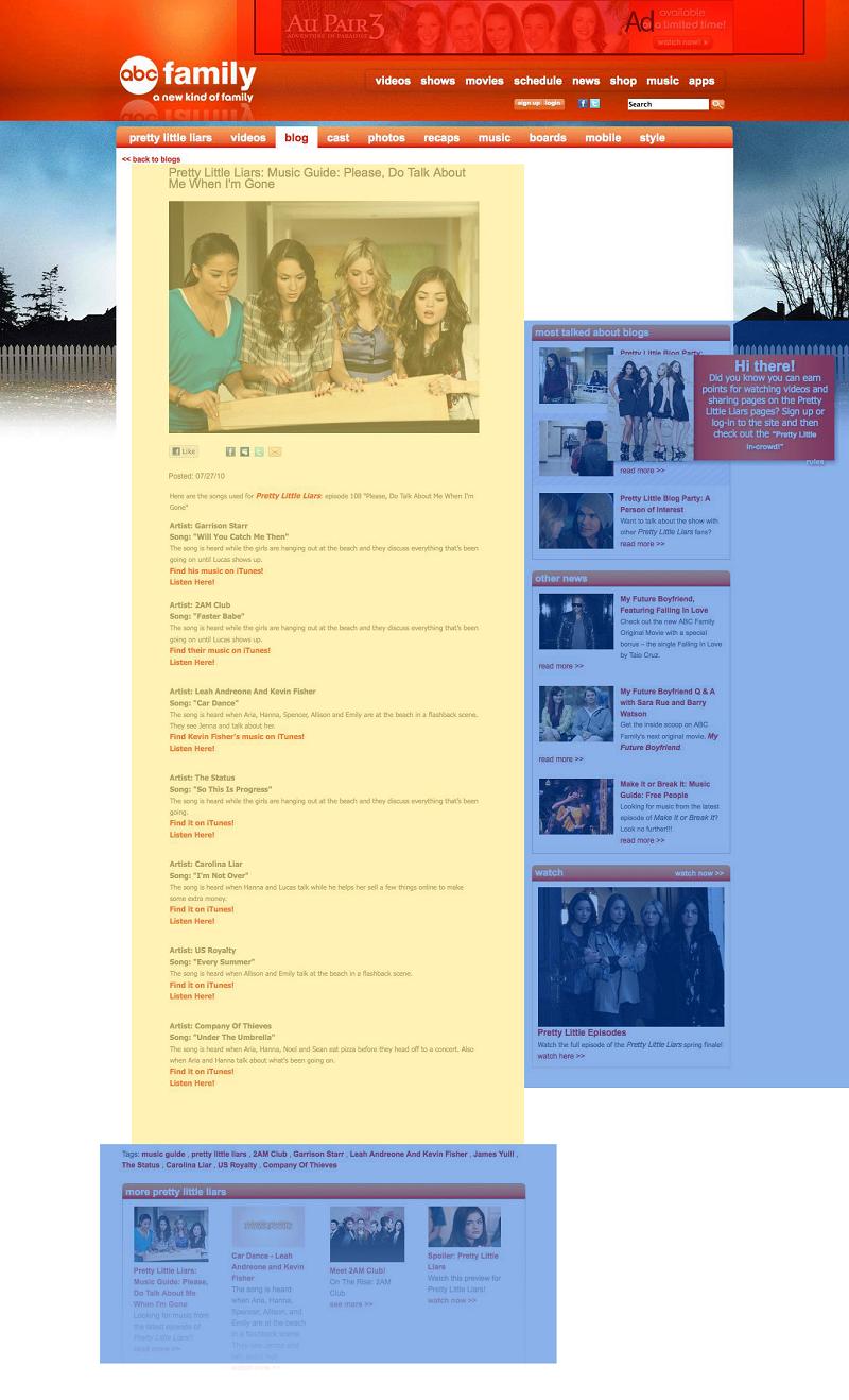 Основной контент страницы блога